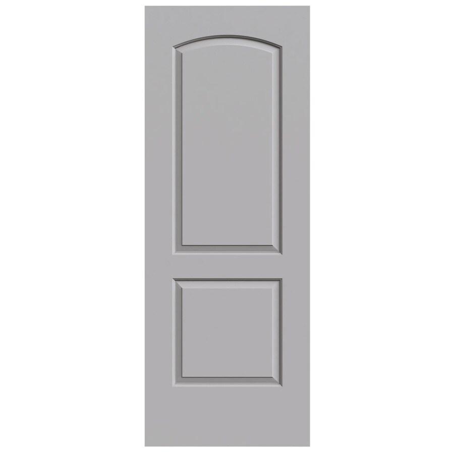 JELD-WEN Driftwood Solid Core 2-Panel Round Top Slab Interior Door (Common: 28-in x 80-in; Actual: 28-in x 80-in)