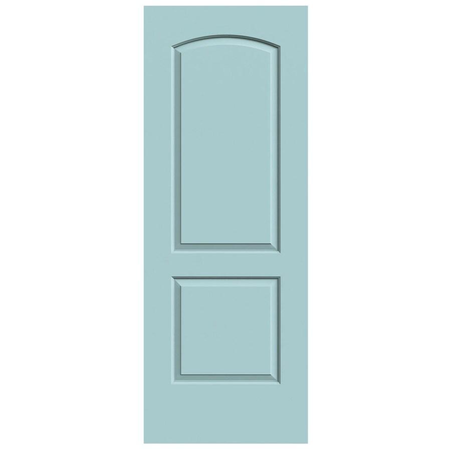 JELD-WEN Sea Mist Solid Core 2-Panel Round Top Slab Interior Door (Common: 24-in x 80-in; Actual: 24-in x 80-in)