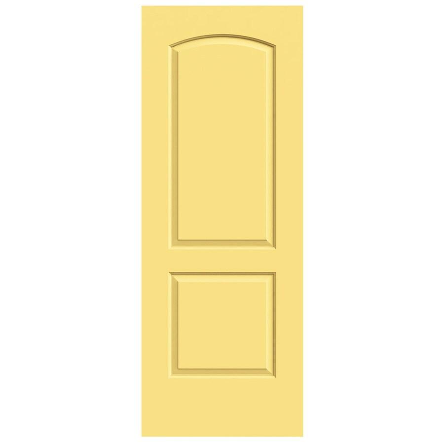 JELD-WEN Marigold Solid Core 2-Panel Round Top Slab Interior Door (Common: 30-in x 80-in; Actual: 30-in x 80-in)