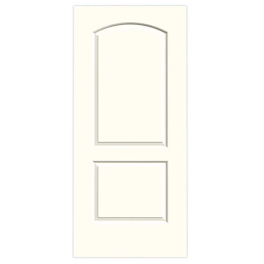 JELD-WEN Moonglow Solid Core 2-Panel Round Top Slab Interior Door (Common: 36-in x 80-in; Actual: 36-in x 80-in)