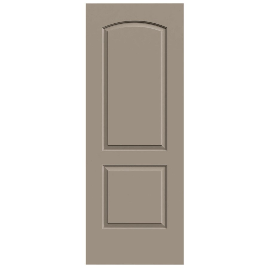 JELD-WEN Sand Piper Solid Core 2-Panel Round Top Slab Interior Door (Common: 28-in x 80-in; Actual: 28-in x 80-in)