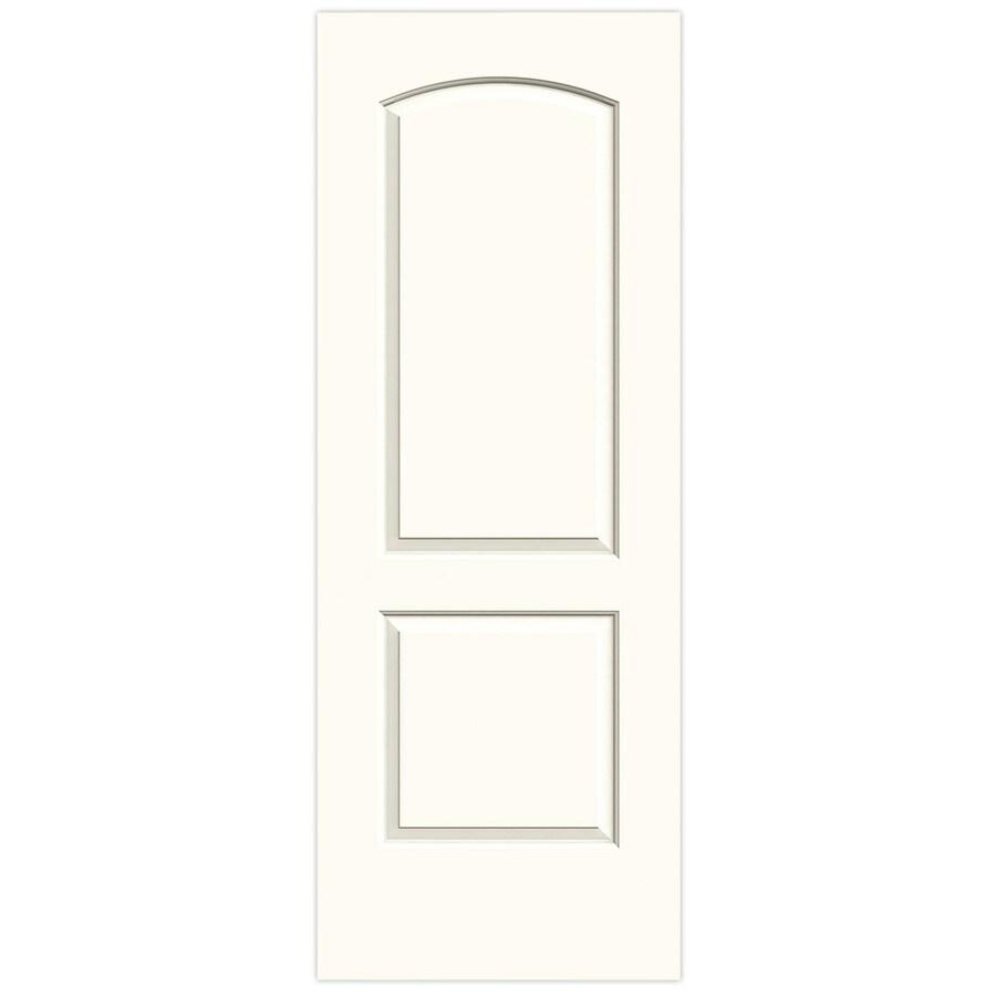 JELD-WEN White Solid Core 2-Panel Round Top Slab Interior Door (Common: 30-in x 80-in; Actual: 30-in x 80-in)