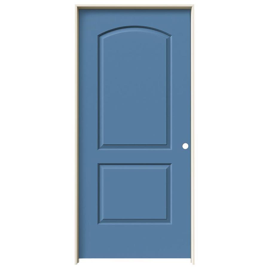 JELD-WEN Blue Heron Prehung Hollow Core 2-Panel Round Top Interior Door (Common: 36-in x 80-in; Actual: 37.562-in x 81.688-in)