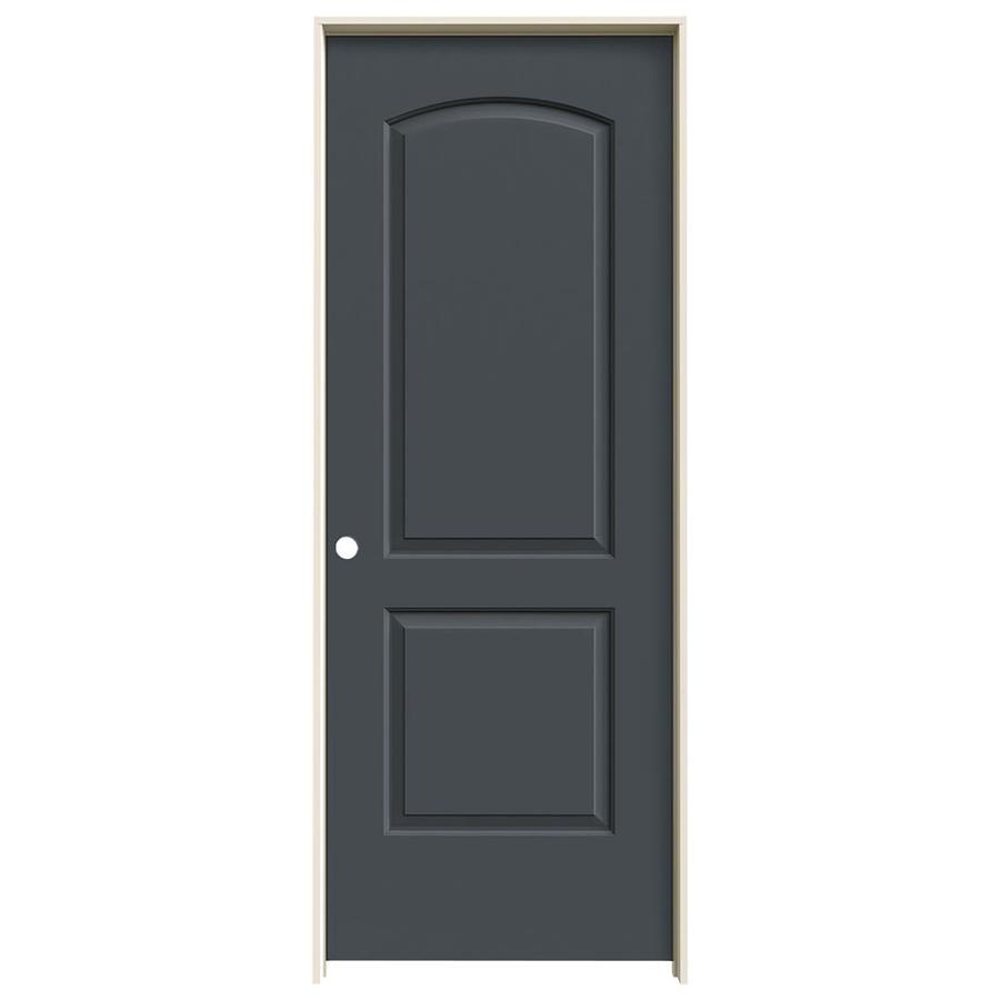 JELD-WEN Slate Prehung Hollow Core 2-Panel Round Top Interior Door (Common: 24-in x 80-in; Actual: 25.562-in x 81.688-in)