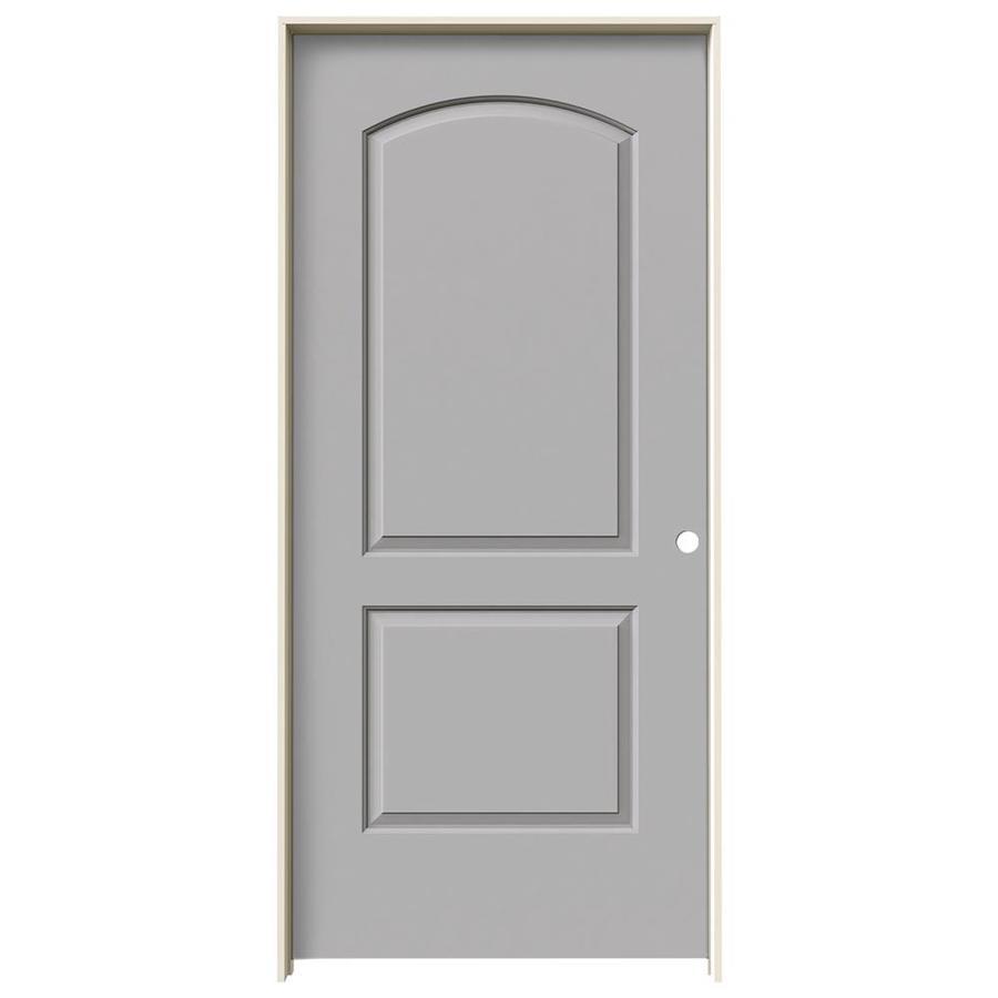 JELD-WEN Driftwood Prehung Hollow Core 2-Panel Round Top Interior Door (Common: 36-in x 80-in; Actual: 37.562-in x 81.688-in)