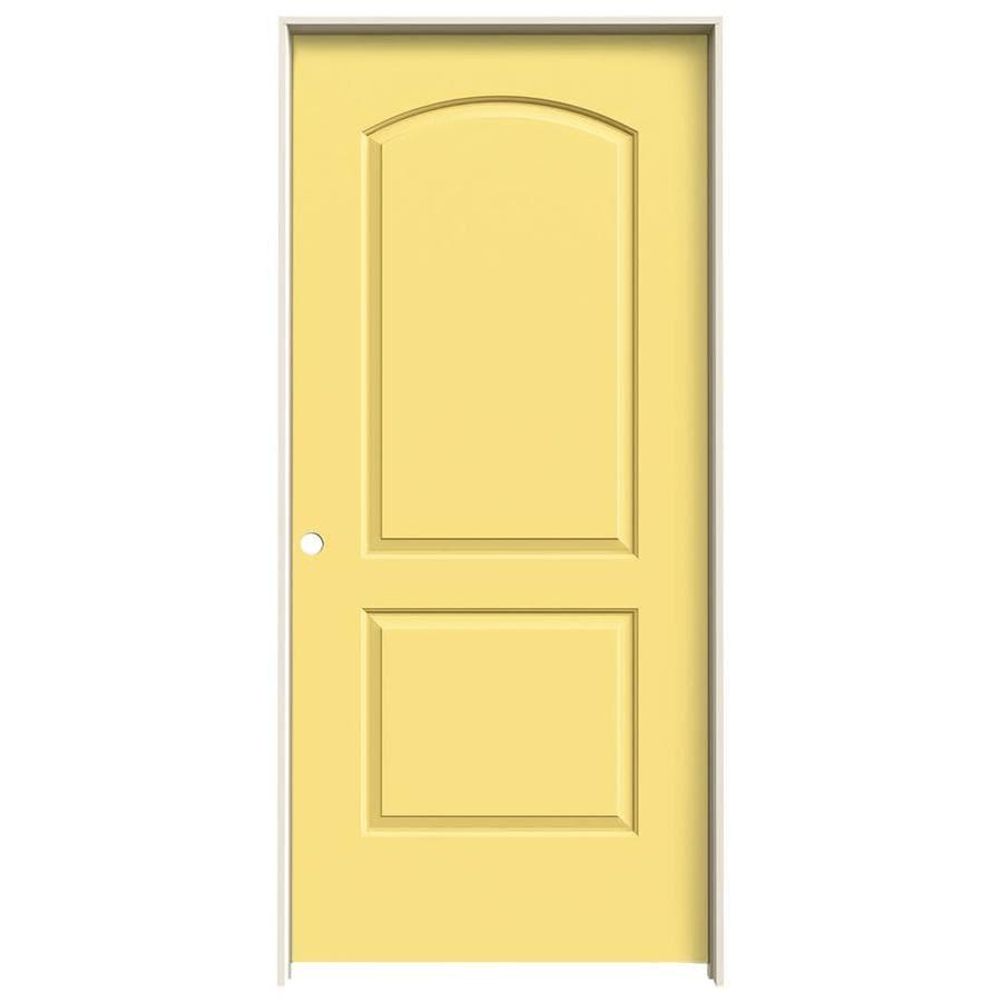 JELD-WEN Marigold Prehung Hollow Core 2-Panel Round Top Interior Door (Common: 36-in x 80-in; Actual: 37.562-in x 81.688-in)