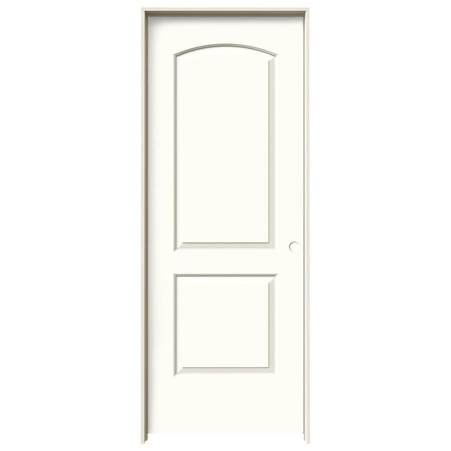 JELD-WEN Moonglow Prehung Hollow Core 2-Panel Round Top Interior Door (Common: 24-in x 80-in; Actual: 25.562-in x 81.688-in)