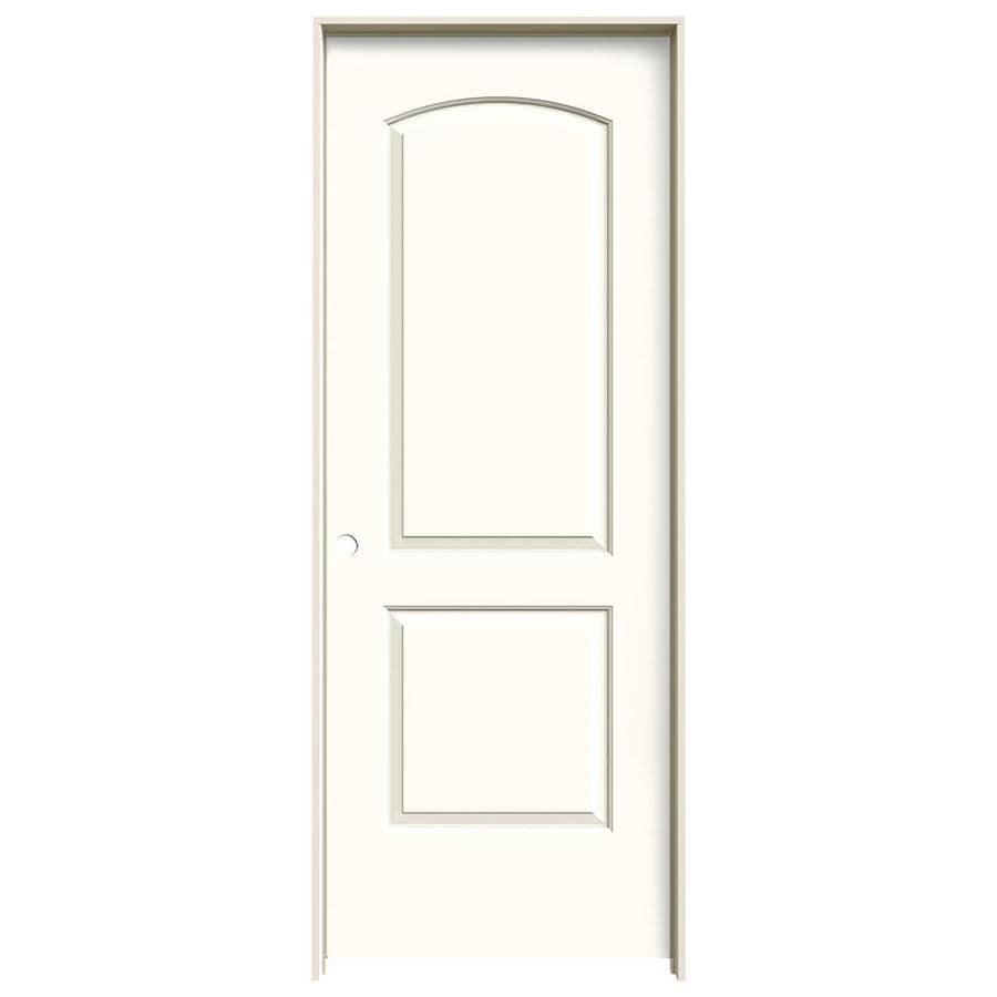 JELD-WEN Moonglow Prehung Hollow Core 2-Panel Round Top Interior Door (Common: 32-in x 80-in; Actual: 33.562-in x 81.688-in)