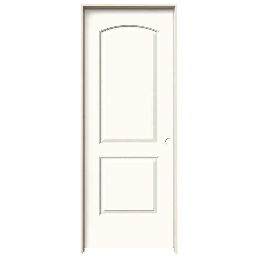JELD-WEN White Prehung Hollow Core 2-Panel Round Top Interior Door (Common: 24-in x 80-in; Actual: 25.562-in x 81.688-in)