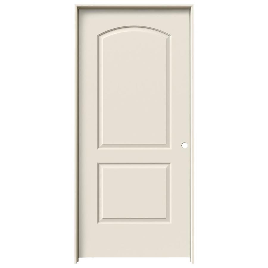 JELD-WEN Prehung Hollow Core 2-Panel Round Top Interior Door (Common: 36-in x 80-in; Actual: 37.562-in x 81.688-in)