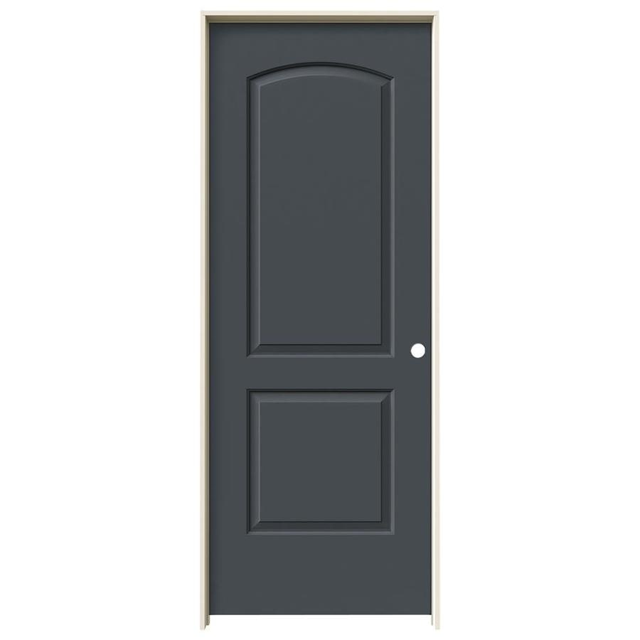 JELD-WEN Slate Prehung Solid Core 2-Panel Round Top Interior Door (Common: 24-in x 80-in; Actual: 25.562-in x 81.688-in)