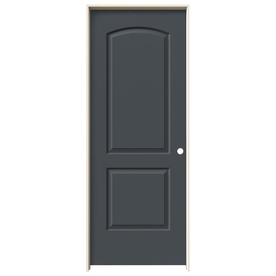 JELD-WEN Slate Prehung Solid Core 2-Panel Round Top Interior Door (Common: 28-in x 80-in; Actual: 29.562-in x 81.688-in)