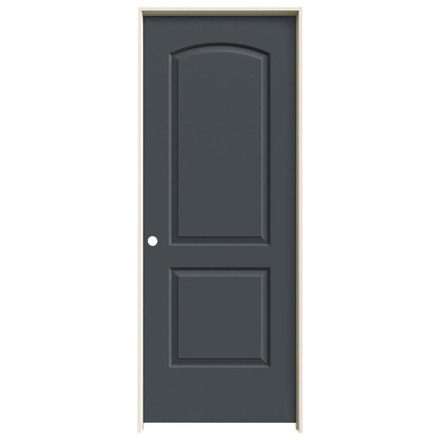 JELD-WEN Slate Prehung Solid Core 2-Panel Round Top Interior Door (Common: 32-in x 80-in; Actual: 33.562-in x 81.688-in)