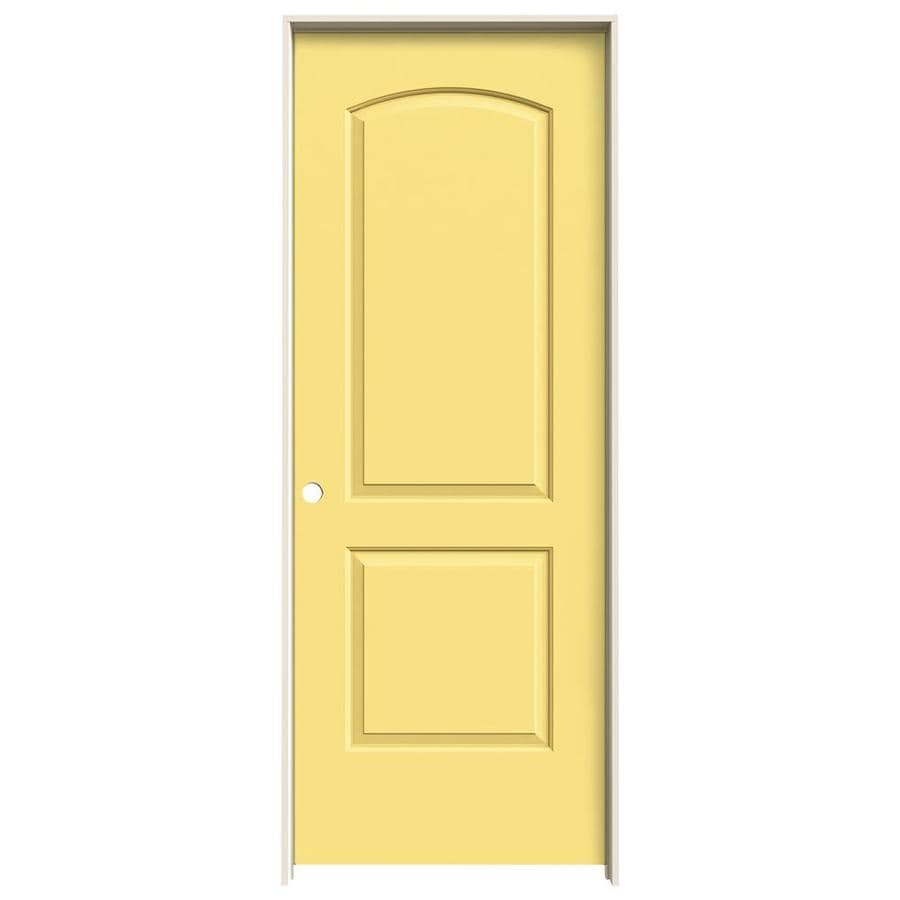 JELD-WEN Marigold Prehung Solid Core 2-Panel Round Top Interior Door (Common: 24-in x 80-in; Actual: 25.562-in x 81.688-in)
