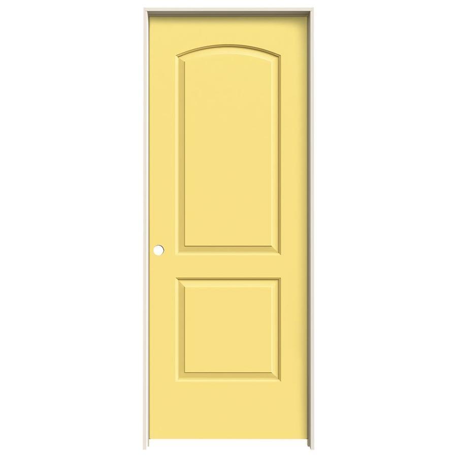JELD-WEN Marigold Prehung Solid Core 2-Panel Round Top Interior Door (Common: 28-in x 80-in; Actual: 29.562-in x 81.688-in)