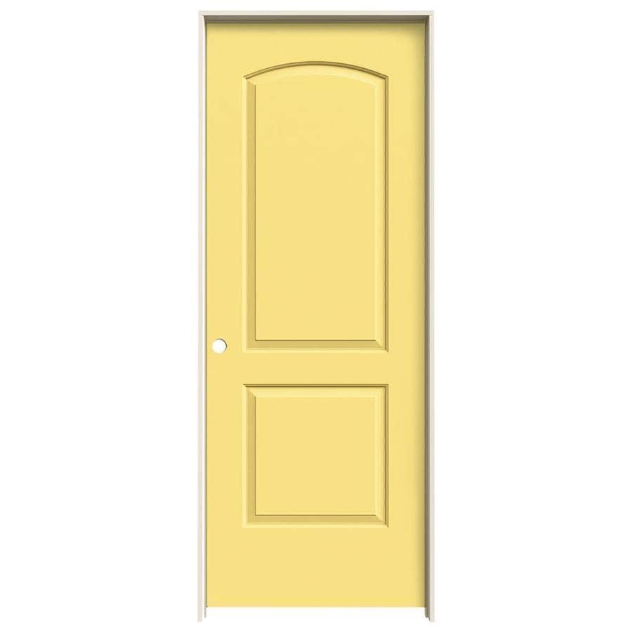 JELD-WEN Marigold Prehung Solid Core 2-Panel Round Top Interior Door (Common: 32-in x 80-in; Actual: 33.562-in x 81.688-in)