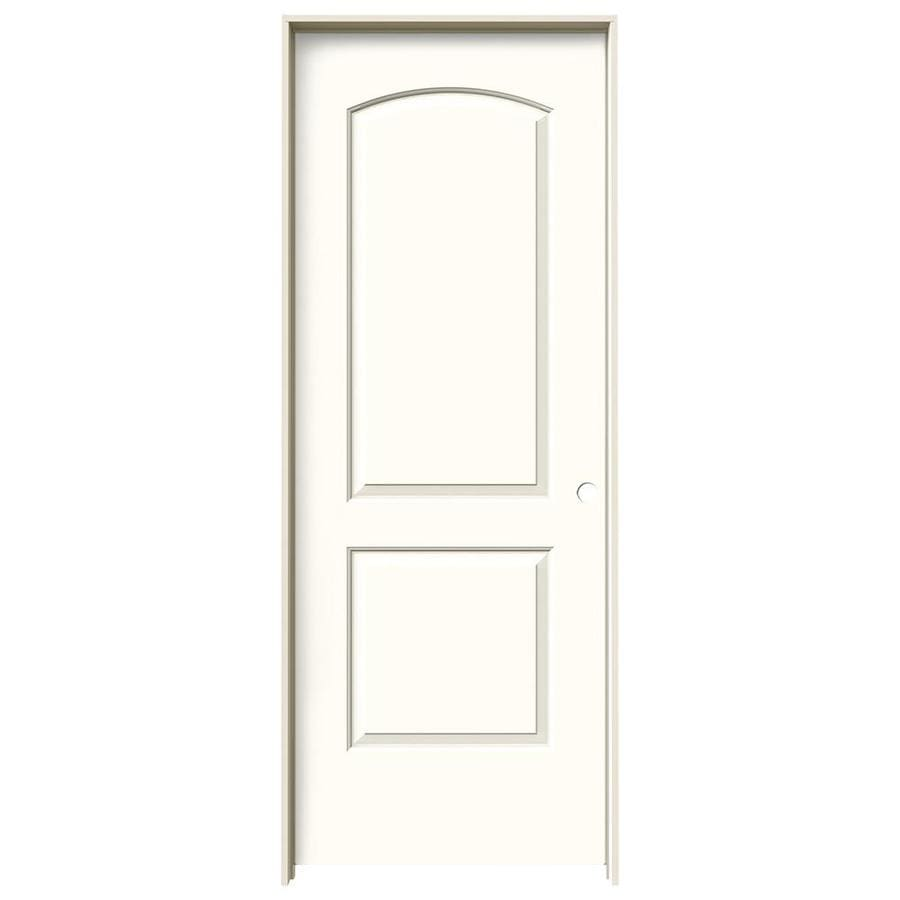 JELD-WEN Moonglow Prehung Solid Core 2-Panel Round Top Interior Door (Common: 30-in x 80-in; Actual: 31.562-in x 81.688-in)