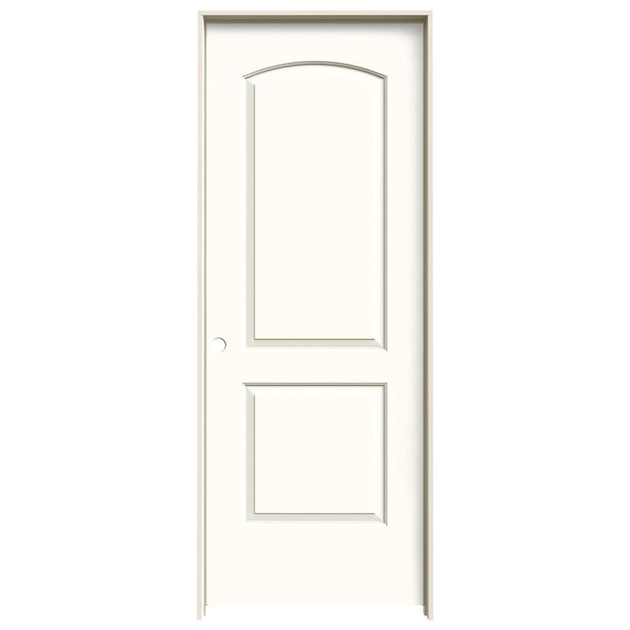JELD-WEN Moonglow Prehung Solid Core 2-Panel Round Top Interior Door (Common: 32-in x 80-in; Actual: 33.562-in x 81.688-in)