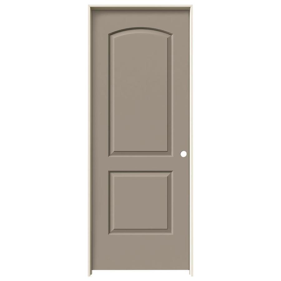 JELD-WEN Sand Piper Prehung Solid Core 2-Panel Round Top Interior Door (Common: 28-in x 80-in; Actual: 29.562-in x 81.688-in)