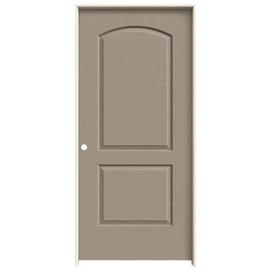 JELD-WEN Sand Piper Prehung Solid Core 2-Panel Round Top Interior Door (Common: 36-in x 80-in; Actual: 37.562-in x 81.688-in)