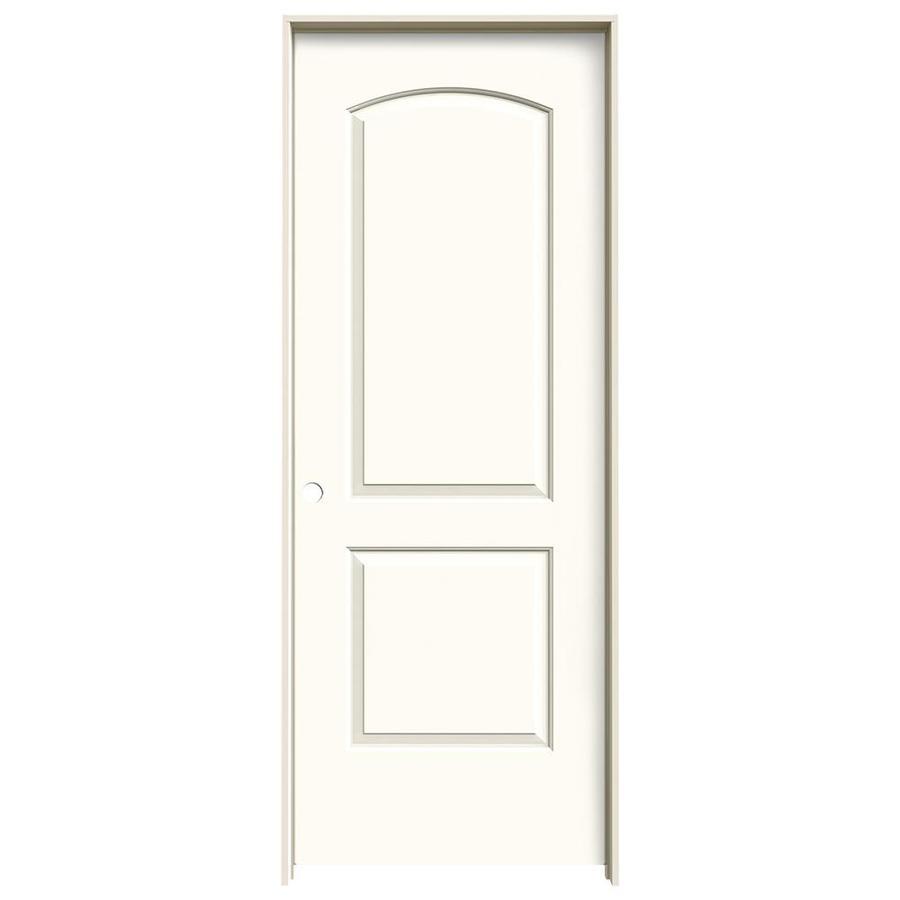 JELD-WEN White Prehung Solid Core 2-Panel Round Top Interior Door (Common: 32-in x 80-in; Actual: 33.562-in x 81.688-in)