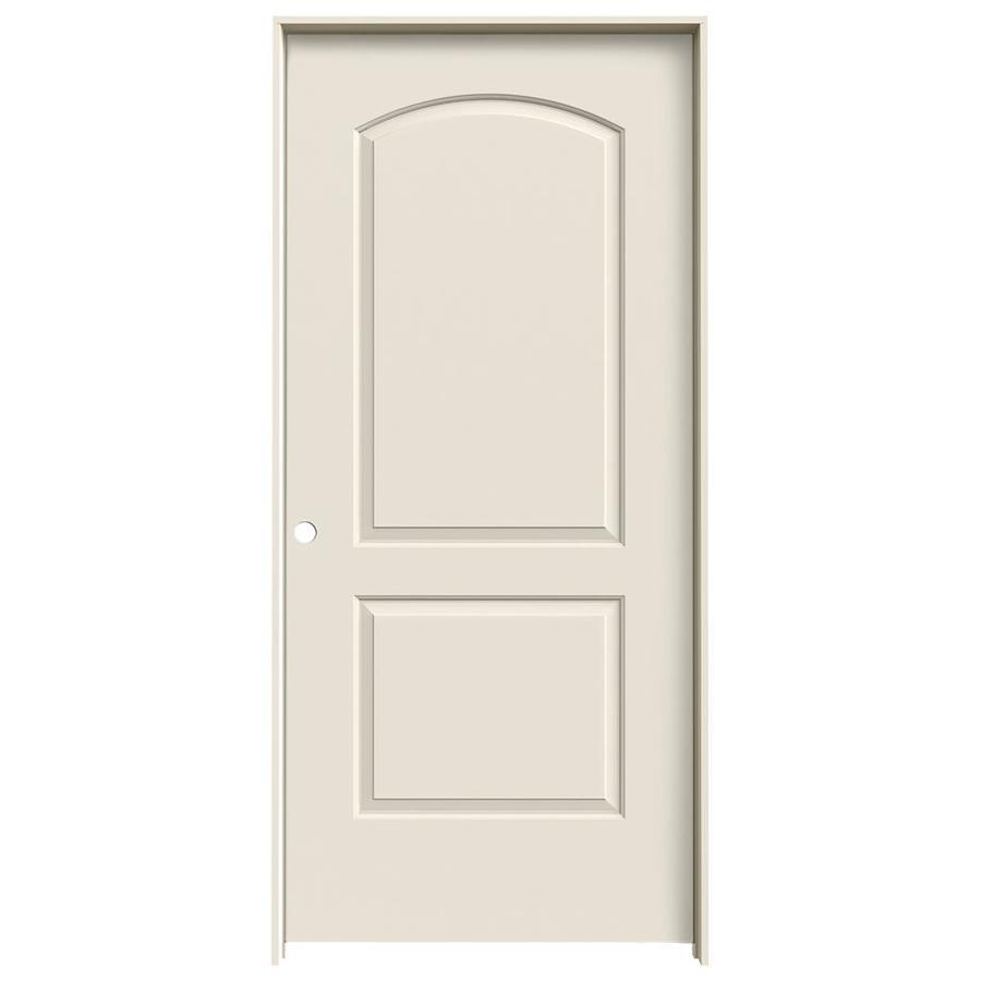 JELD-WEN Prehung Solid Core 2-Panel Round Top Interior Door (Common: 36-in x 80-in; Actual: 37.562-in x 81.688-in)