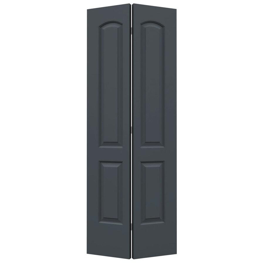 ReliaBilt Slate Hollow Core 2-Panel Round Top Bi-Fold Closet Interior Door (Common: 32-in x 80-in; Actual: 31.5-in x 79-in)