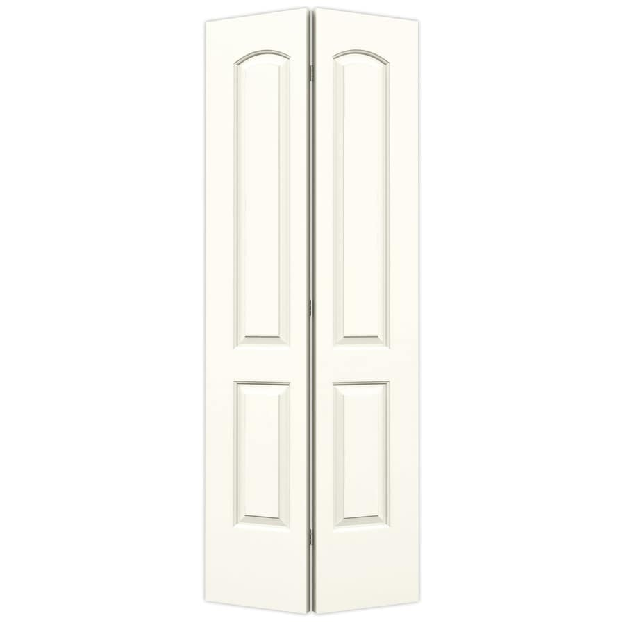 ReliaBilt White Hollow Core 2-Panel Round Top Bi-Fold Closet Interior Door (Common: 24-in x 80-in; Actual: 23.5-in x 79-in)