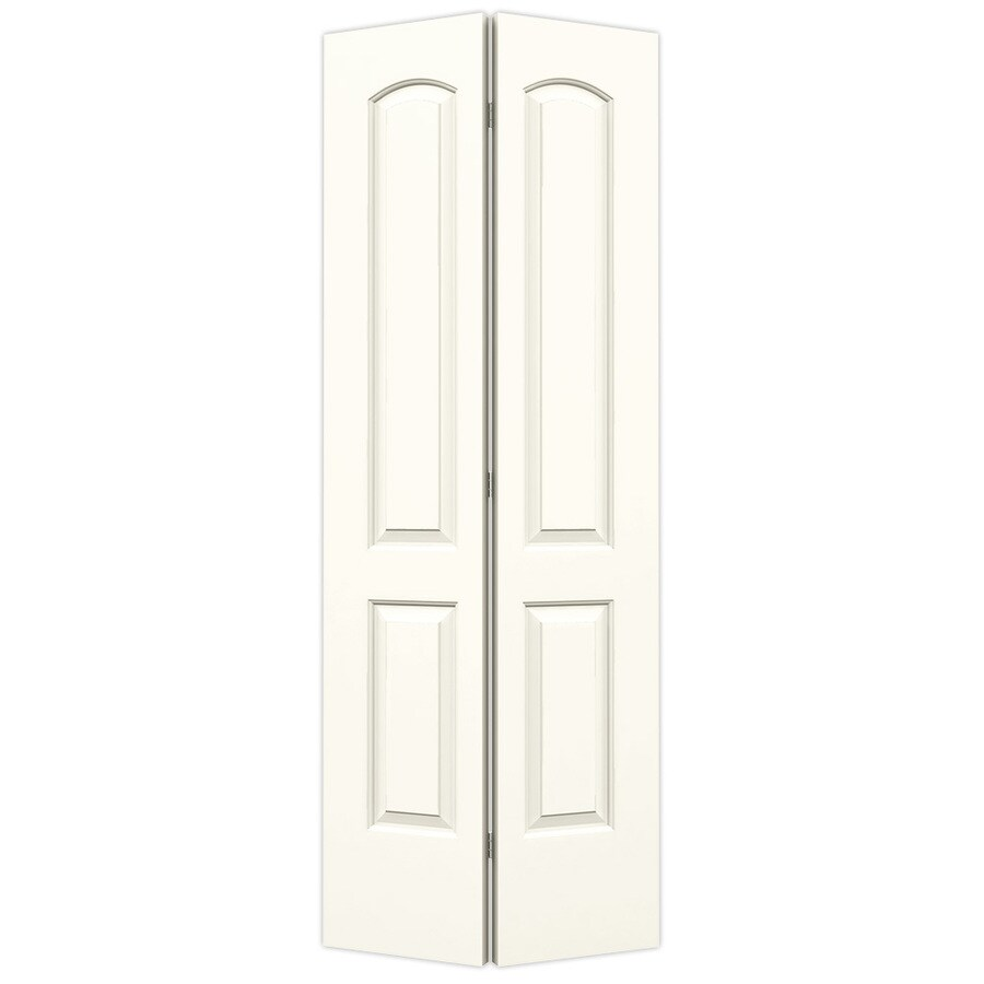 ReliaBilt White Hollow Core 2-Panel Round Top Bi-Fold Closet Interior Door (Common: 30-in x 80-in; Actual: 29.5-in x 79-in)