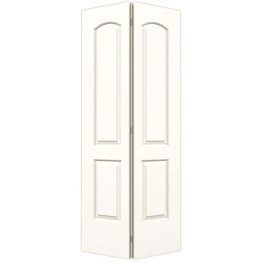 ReliaBilt White Hollow Core 2-Panel Round Top Bi-Fold Closet Interior Door (Common: 36-in x 80-in; Actual: 35.5-in x 79-in)