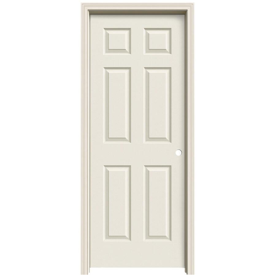 ReliaBilt (Primed) Prehung Solid Core 6-Panel Interior Door (Common: 28-in x 80-in; Actual: 29.563-in x 81.063-in)