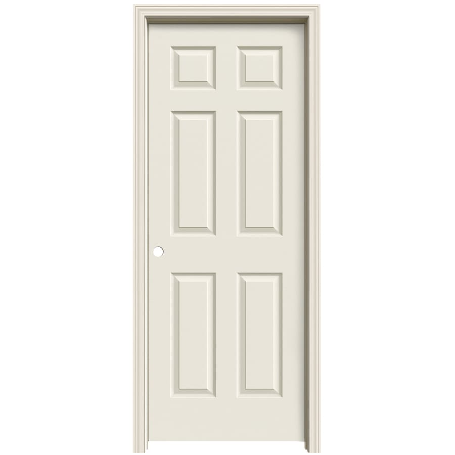ReliaBilt (Primed) Prehung Solid Core 6-Panel Interior Door (Common: 32-in x 80-in; Actual: 33.563-in x 81.063-in)