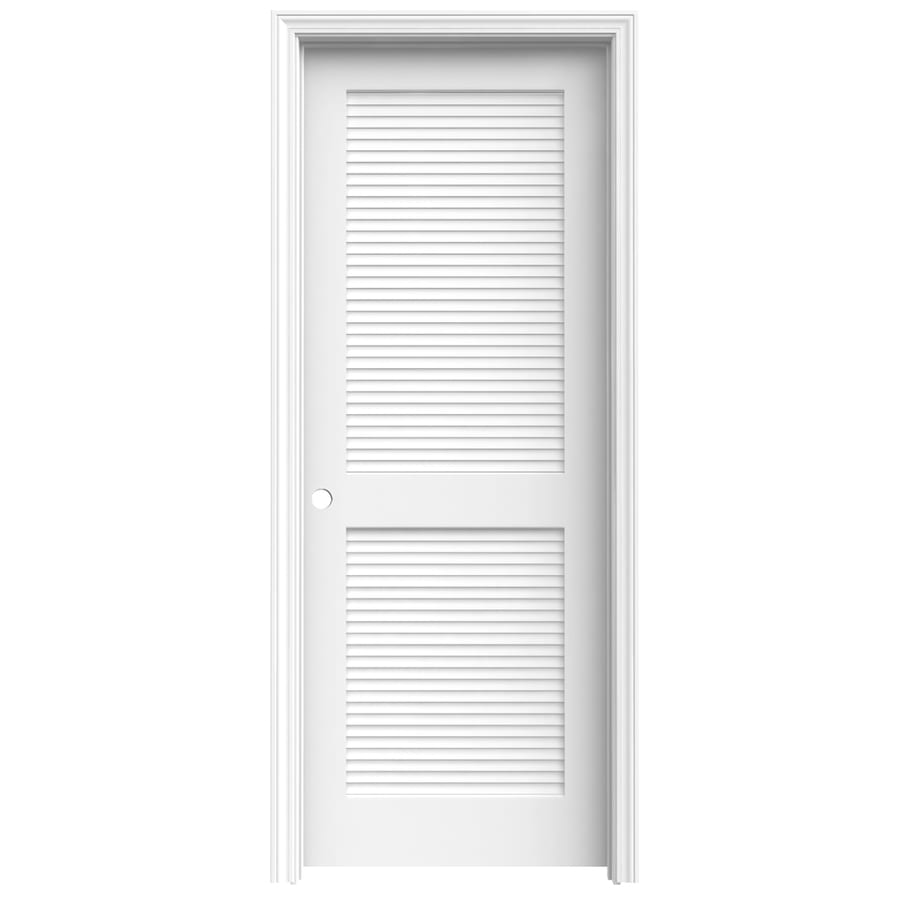 ReliaBilt Prehung Solid Core Full Louver Pine Interior Door (Common: 28-in x 80-in; Actual: 28-in x 80-in)