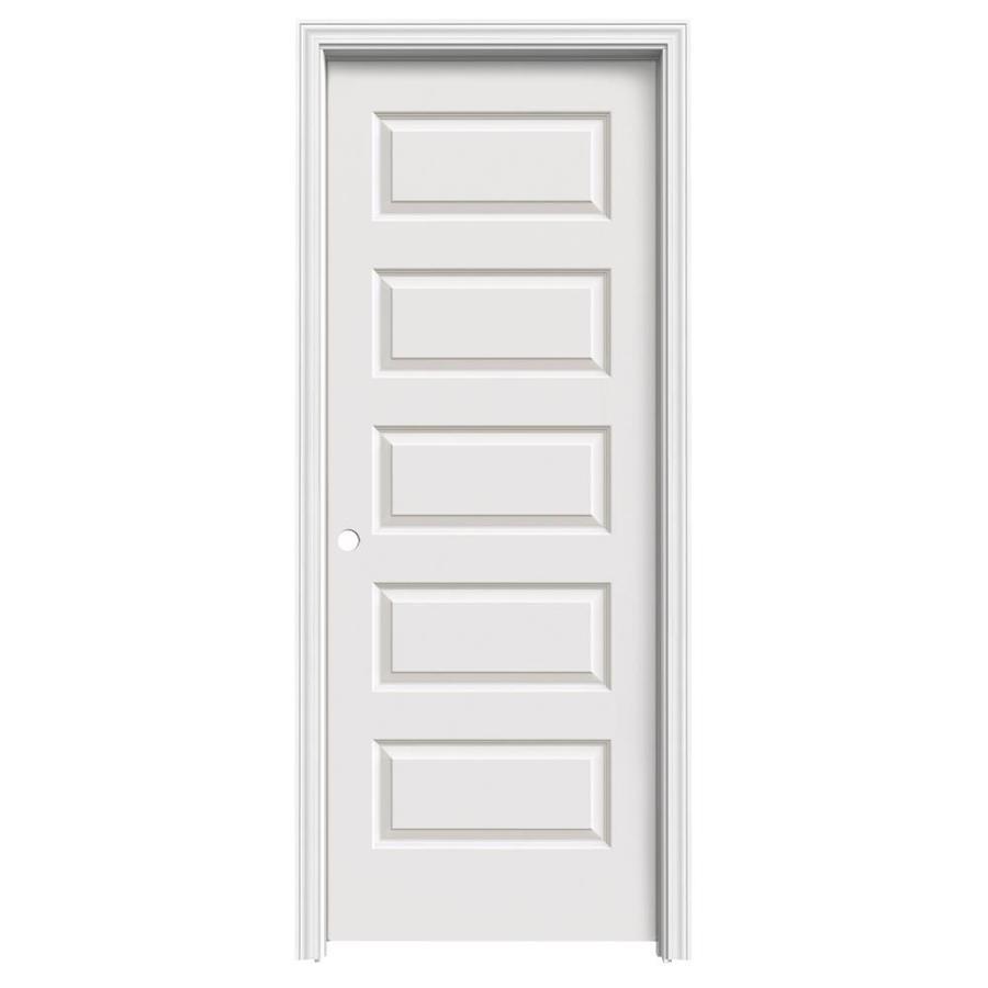 ReliaBilt Prehung Hollow Core 5-Panel Equal Interior Door (Common: 32-in x 80-in; Actual: 33.56-in x 81.688-in)