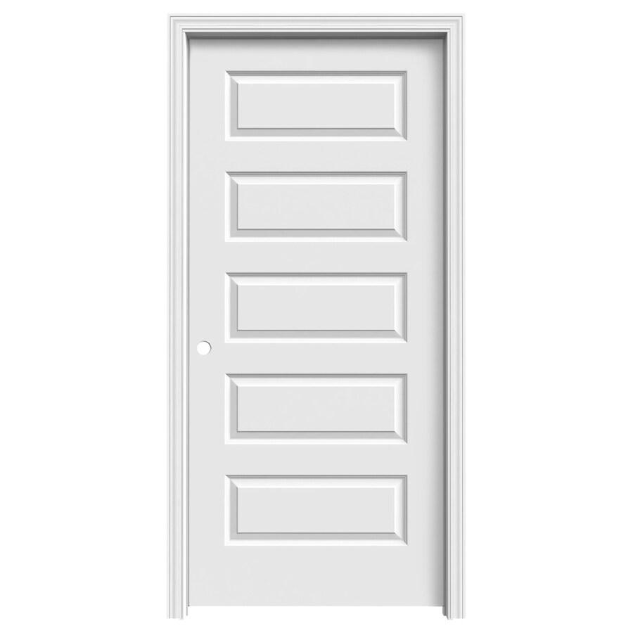 ReliaBilt (Primed) Prehung Hollow Core 5-Panel Equal Interior Door (Common: 36-in x 80-in; Actual: 37.562-in x 81.688-in)