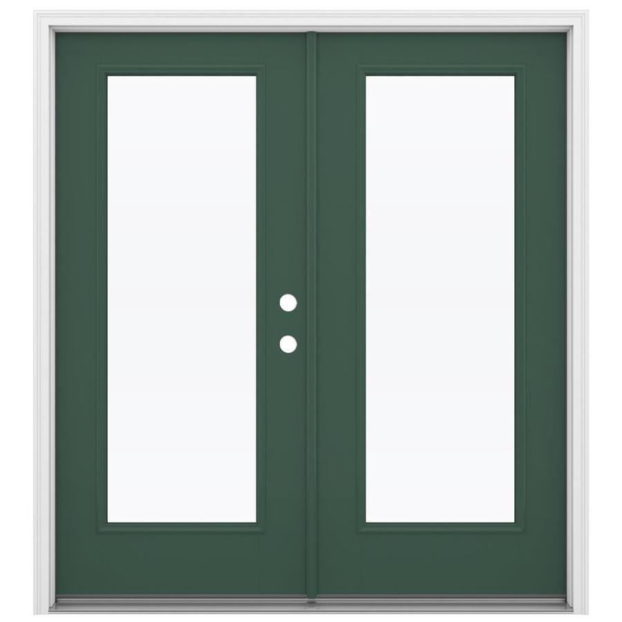 Shop reliabilt 71 5 in 1 lite glass evergreen fiberglass for 1 lite french door