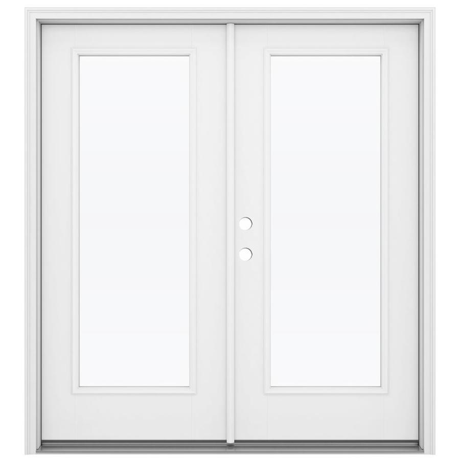 ReliaBilt 71.5-in 1-Lite Glass Primed Fiberglass French Inswing Patio Door