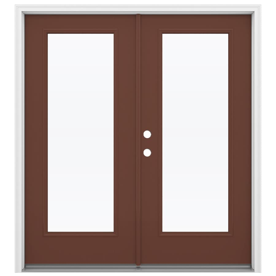Shop reliabilt 71 5 in 1 lite glass foxtail fiberglass for Glass french doors