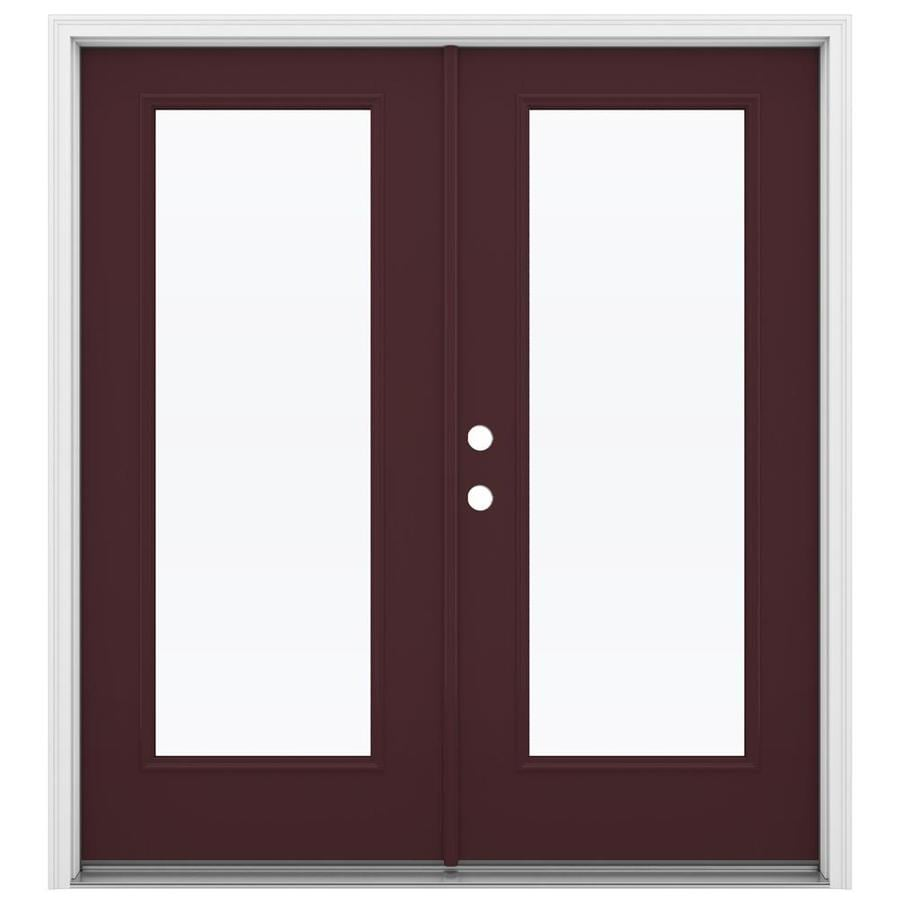 Shop reliabilt 71 5 in 1 lite glass currant fiberglass for Fiberglass french patio doors