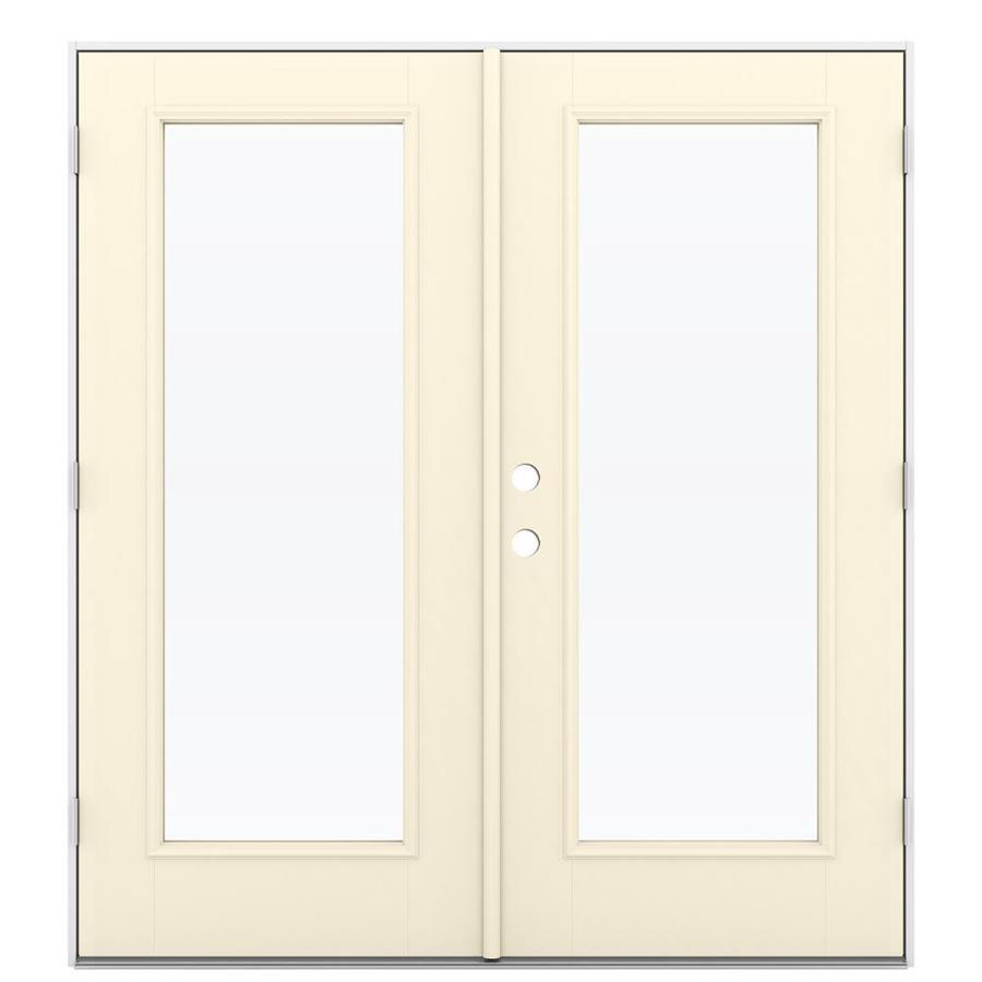 ReliaBilt 71.5-in 1-Lite Glass Bisque Fiberglass French Outswing Patio Door