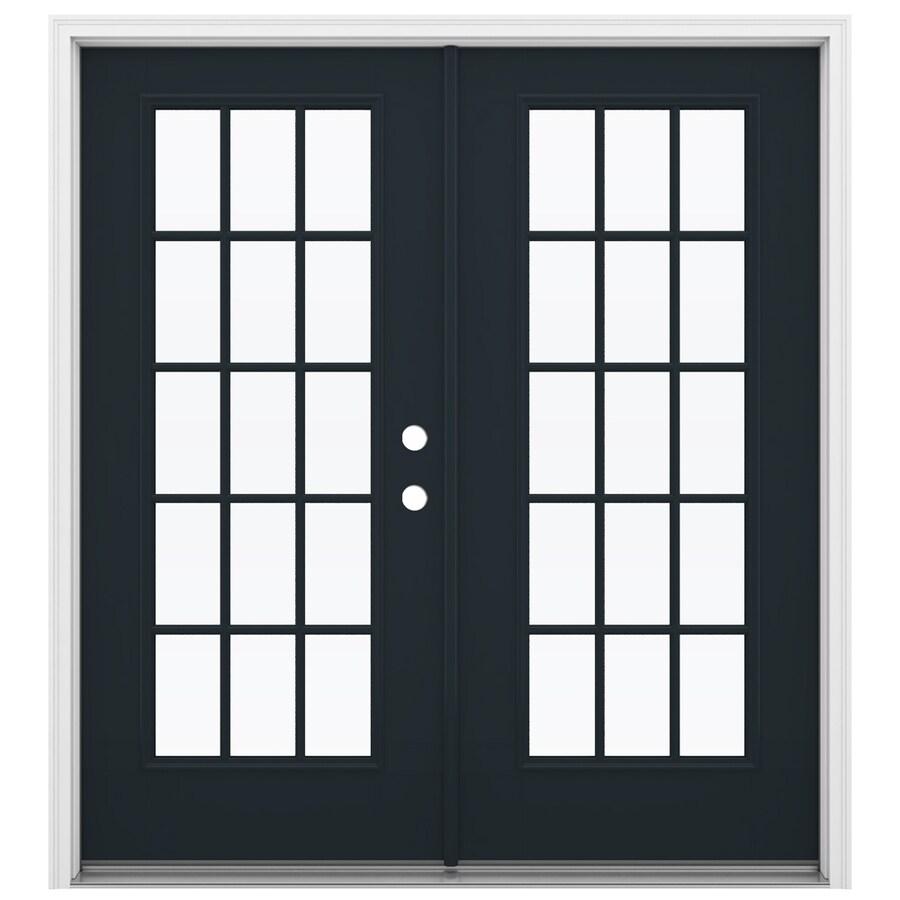 ReliaBilt 71.5-in 15-Lite Glass Eclipse Fiberglass French Inswing Patio Door
