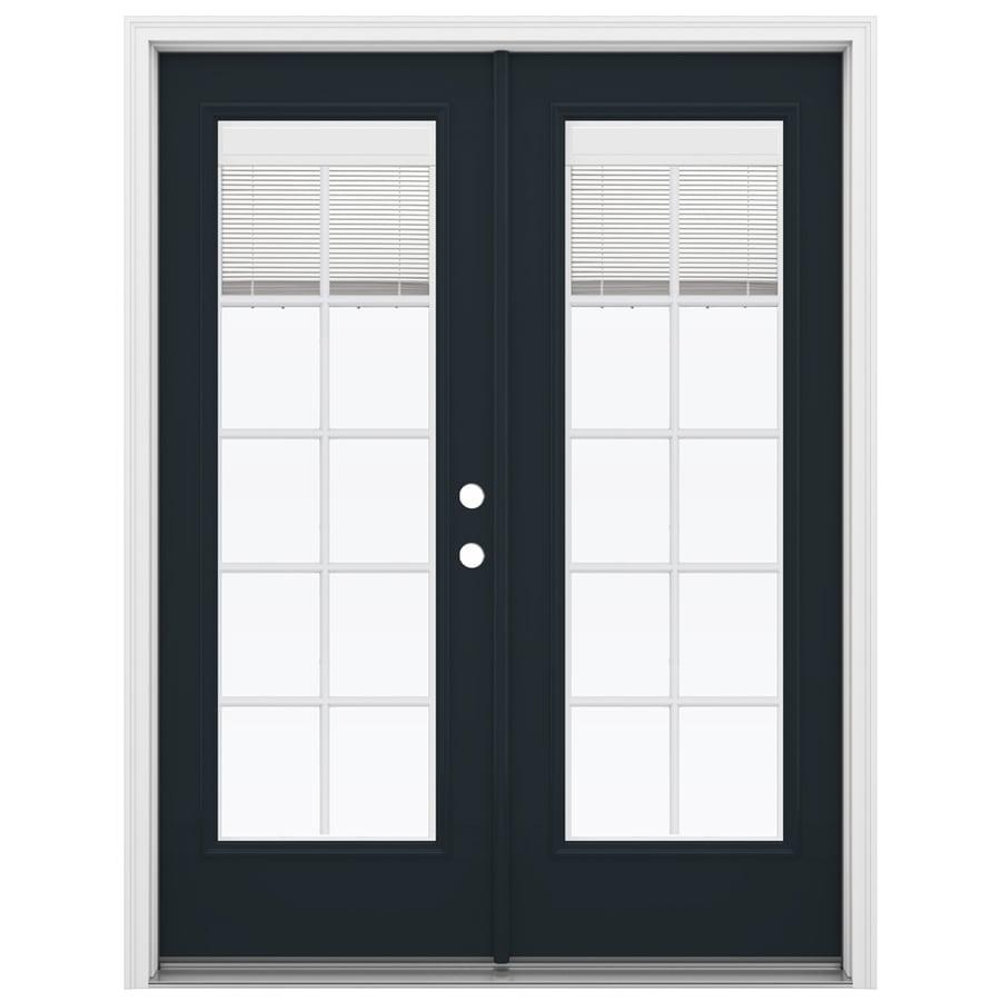 ReliaBilt 59.5-in Blinds Between the Glass Eclipse Fiberglass French Inswing Patio Door