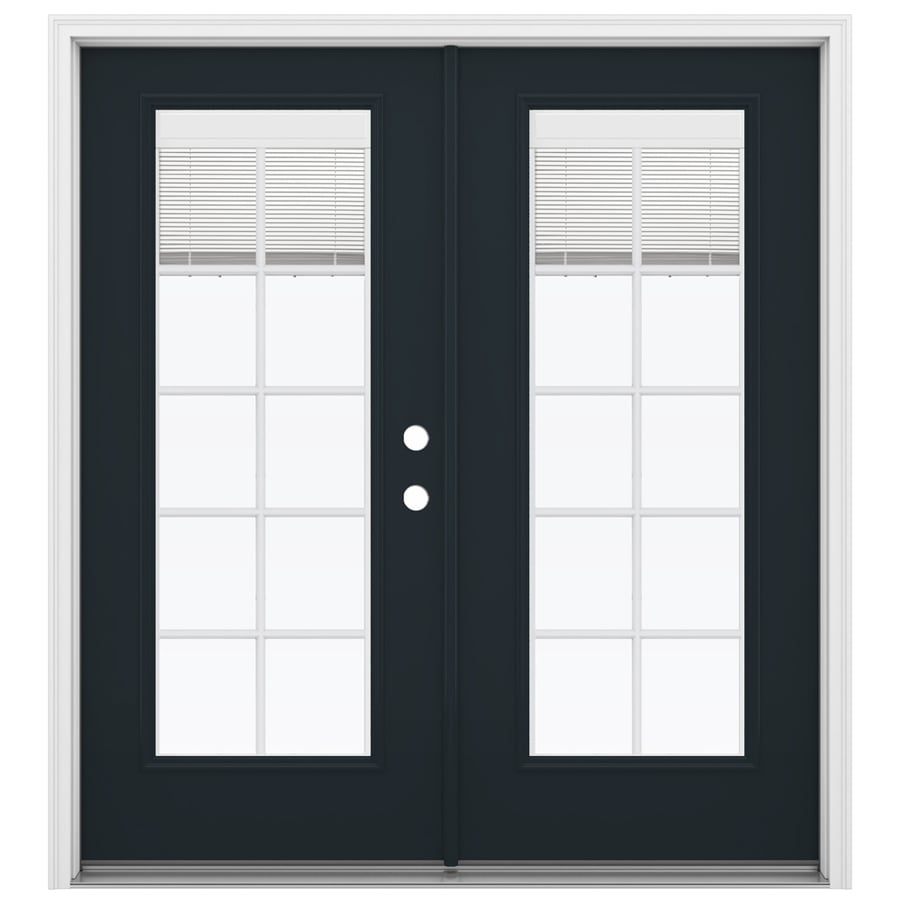ReliaBilt 71.5-in Blinds Between the Glass Eclipse Fiberglass French Inswing Patio Door