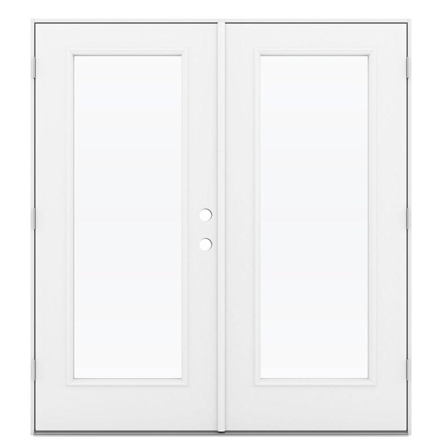 ReliaBilt 71.5-in 1-Lite Glass Primed Steel French Outswing Patio Door