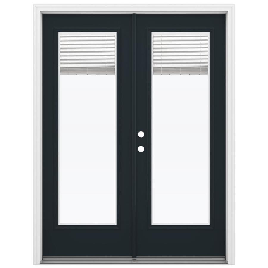 ReliaBilt 59.5-in Blinds Between the Glass Eclipse Steel French Inswing Patio Door