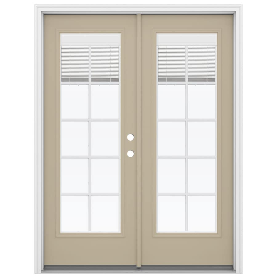 Shop reliabilt 59 5 in blinds between the glass sandy for French doors no glass