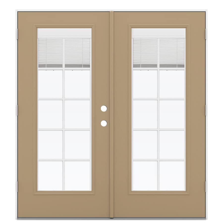 Shop Reliabilt 71 5 In Blinds Between The Glass Warm Wheat Steel French Outswing Patio Door At
