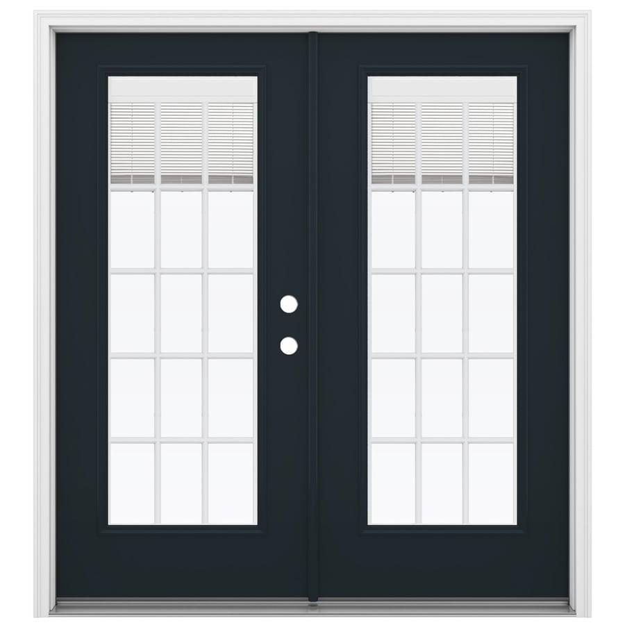 ReliaBilt 71.5-in Blinds Between the Glass Eclipse Steel French Inswing Patio Door