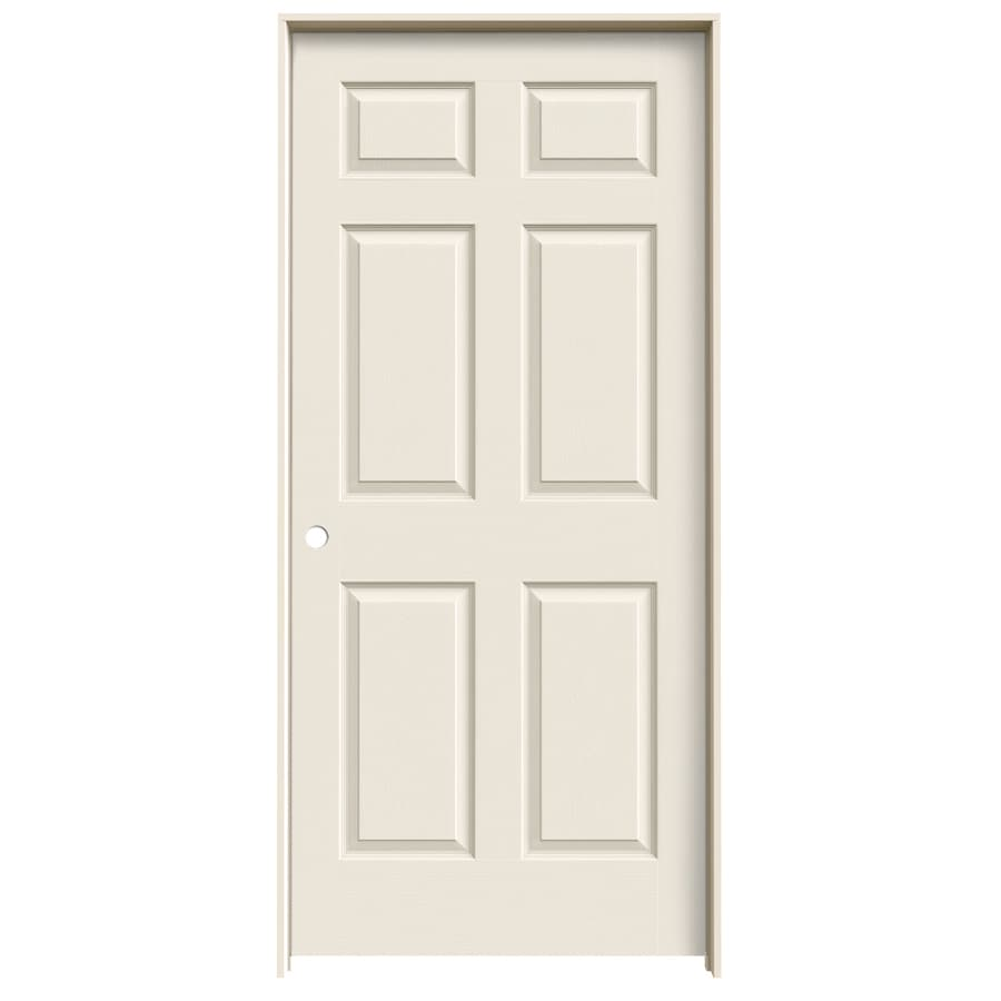ReliaBilt Prehung Solid Core 6-Panel Interior Door (Common: 24-in x 80-in; Actual: 25.563-in x 81.688-in)
