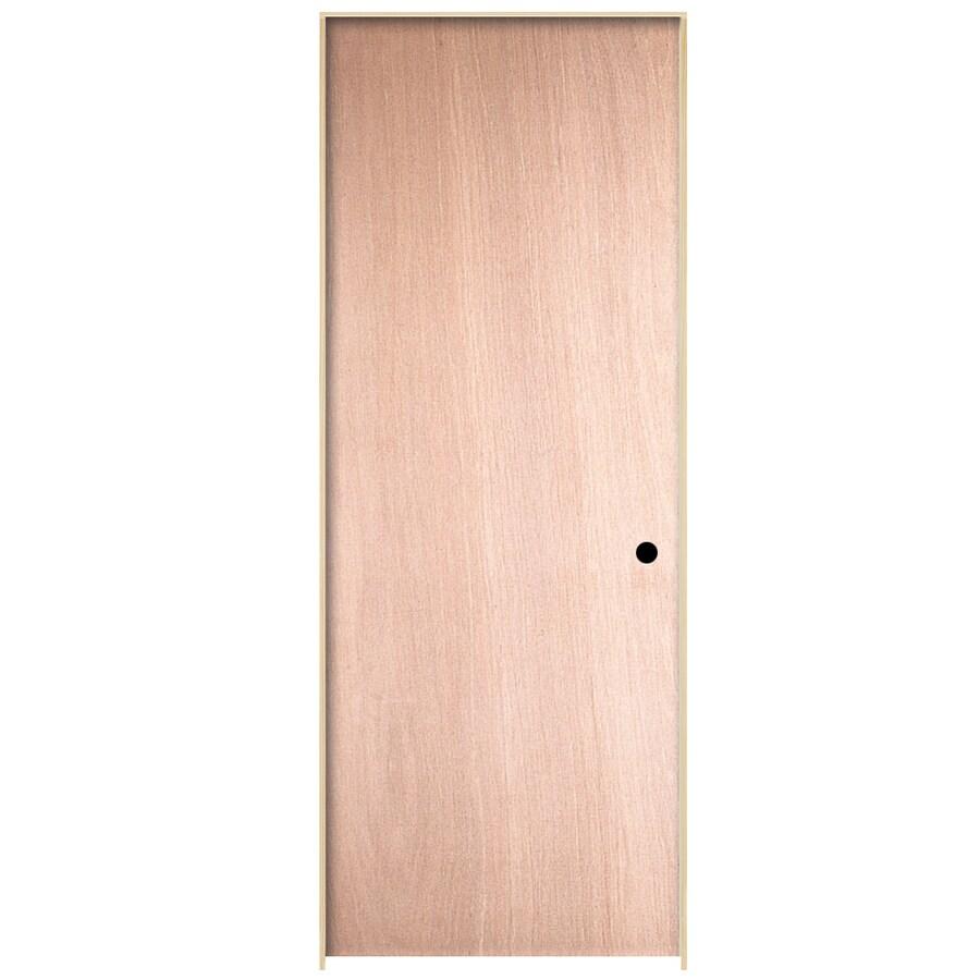 ReliaBilt Prehung Hollow Core Flush Birch Interior Door (Common: 32-in x 80-in; Actual: 33.563-in x 81.687-in)